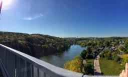 The Tetrika River as seen from the bridge at Gargarin Park