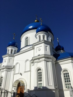 St. Michael's Cathedral near city center, on Mykhailivska Street