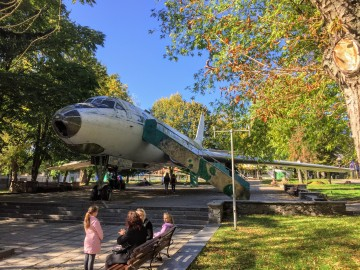 A former children's theater, now simply an old plane in a park.
