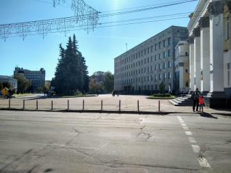 Government Administration building, where Chris does CD work