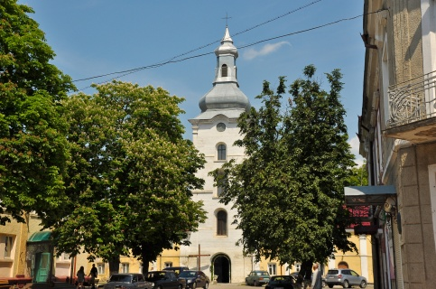 The Roman Catholic church in the center of town
